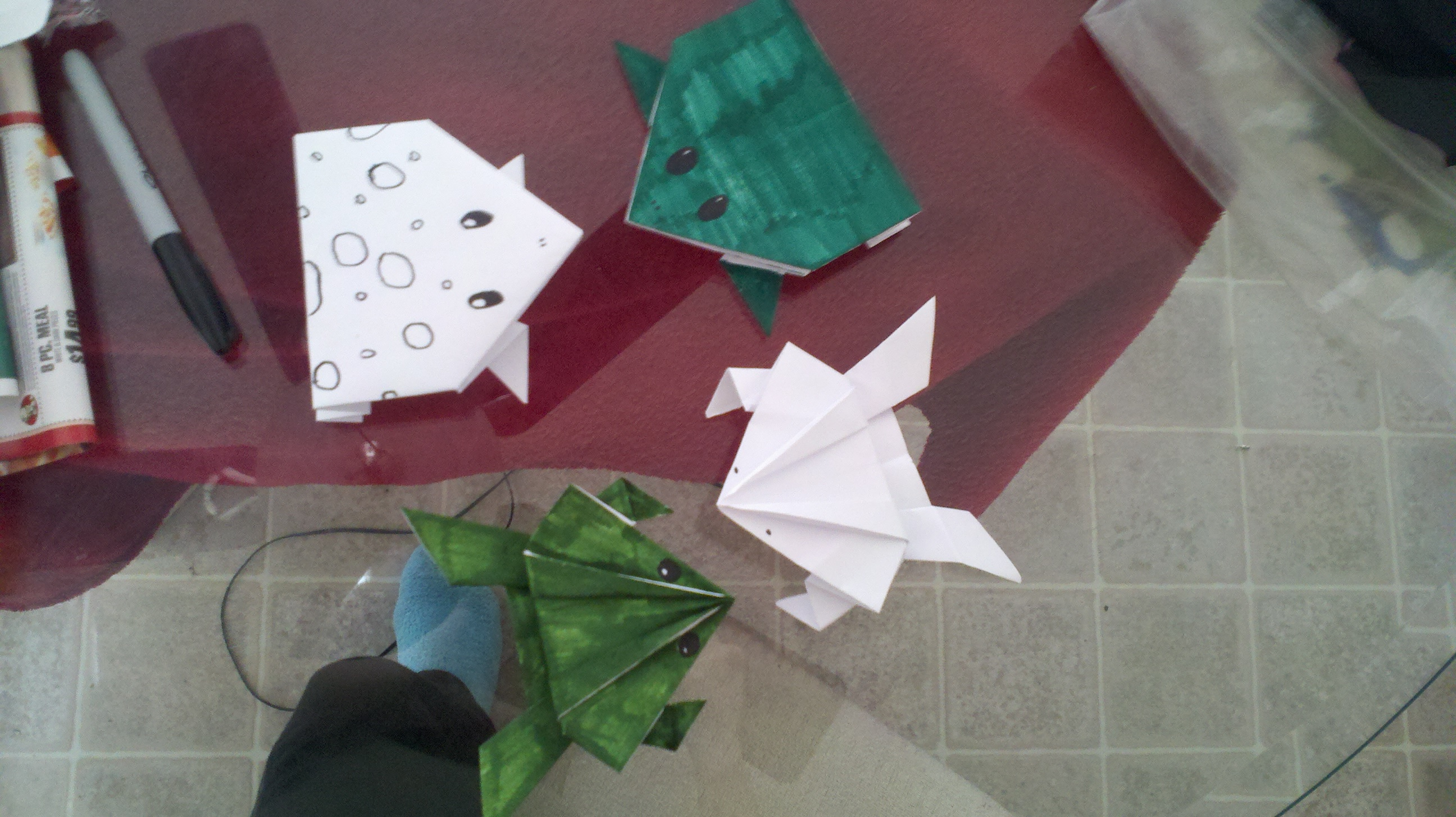 How To Fold An Origami Hopping Frog