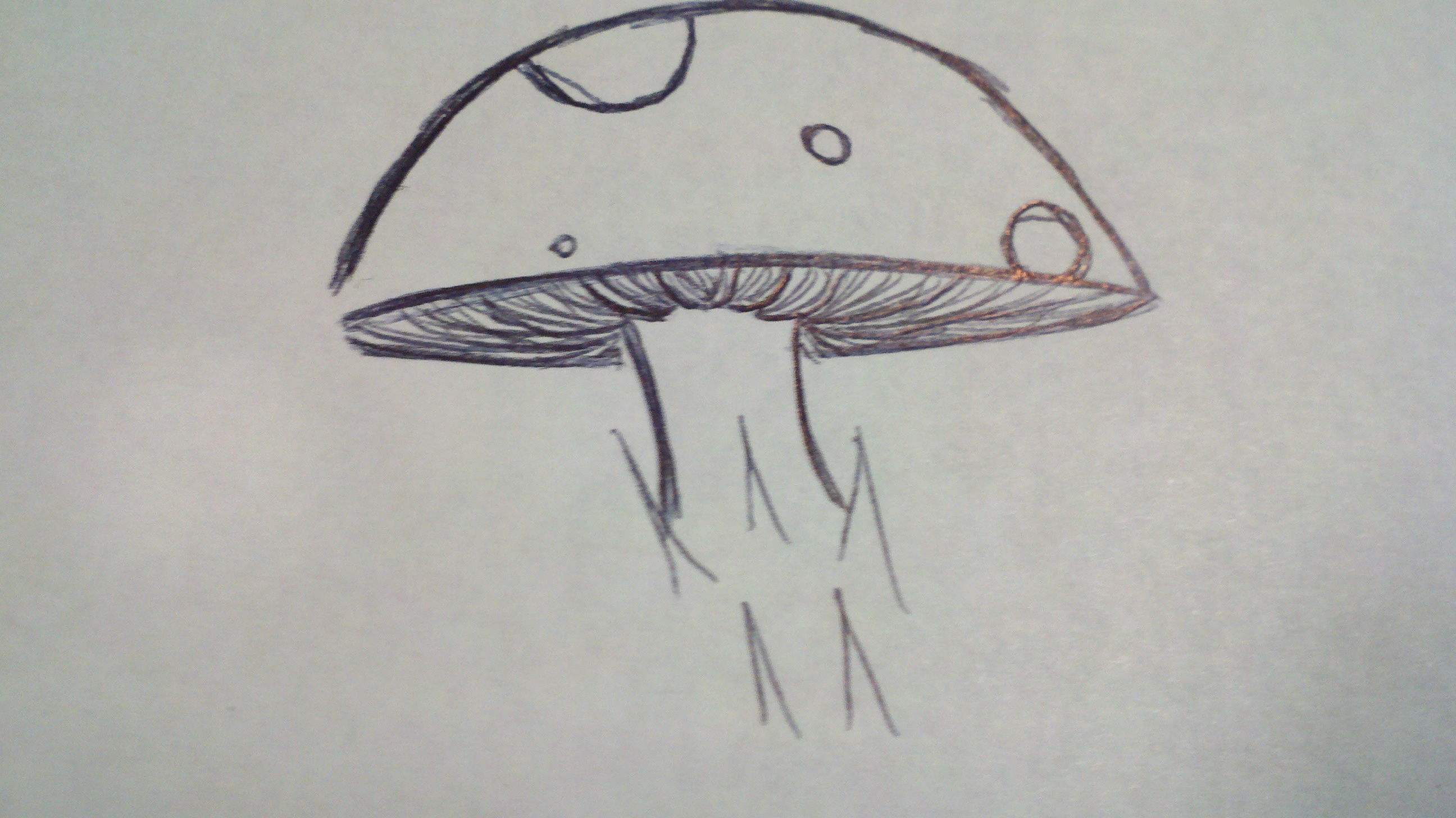 how to draw cartoon mushrooms